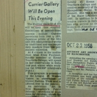 After hours event announcement from 1958.